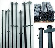 Металлические столбы для забора